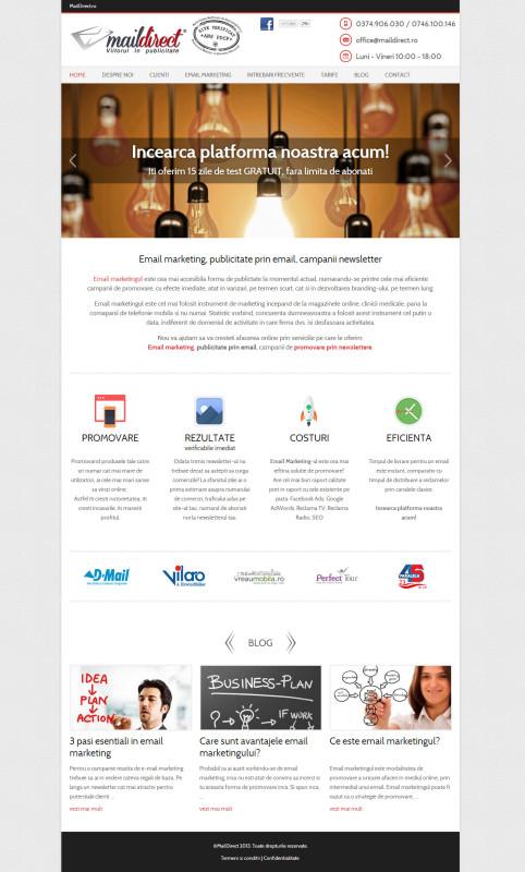 Maildirect - Web design