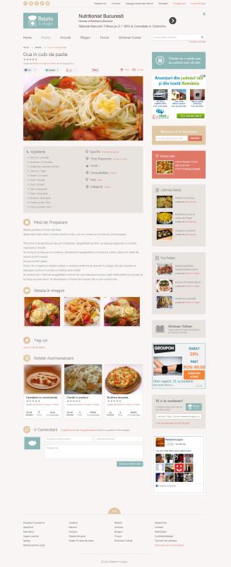 Retete in imagini - Web design
