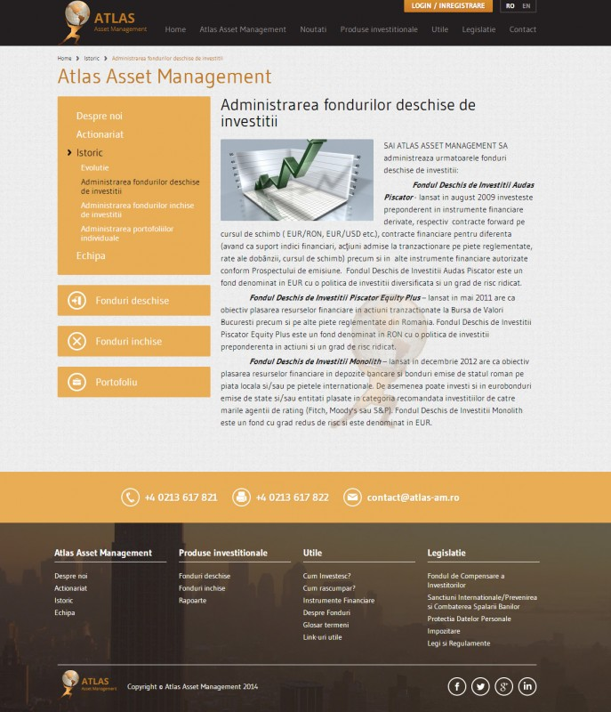 Atlas - Web design