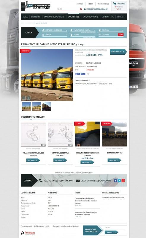 Dezmembrari Camioane - Web design