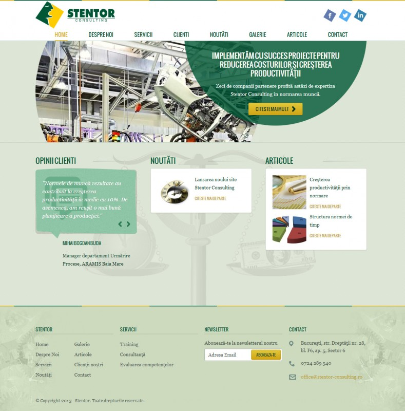 Stentor - Web design