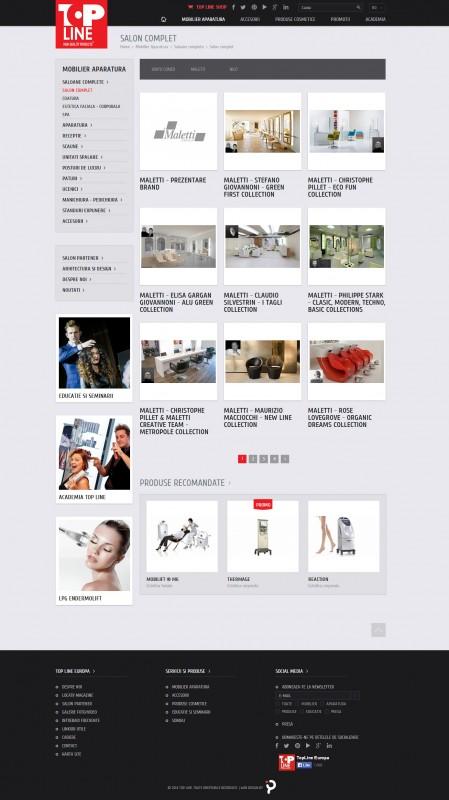 Topline - Web design