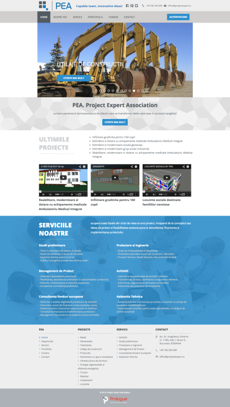 web design - homepage