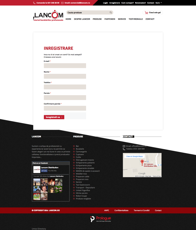 inregistrare, web design