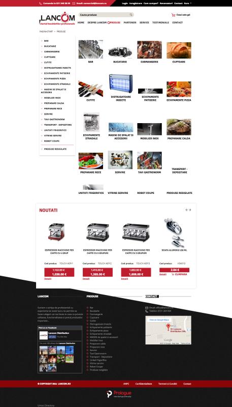 listare produse, web design