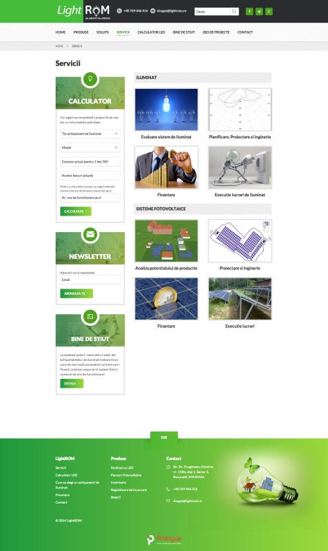web design, realizare pagina web - listare servicii