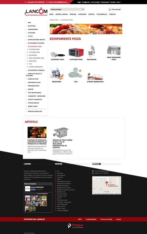 listare subcategorii, web design