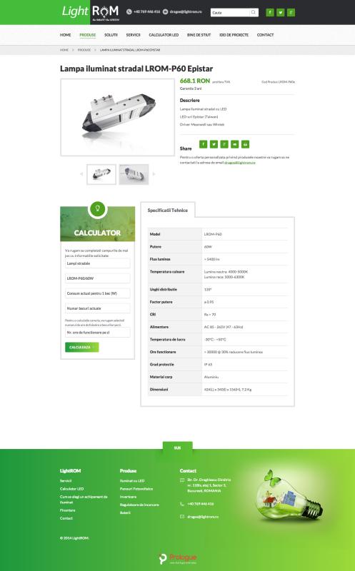 web design, realizare pagina web - pagina produs
