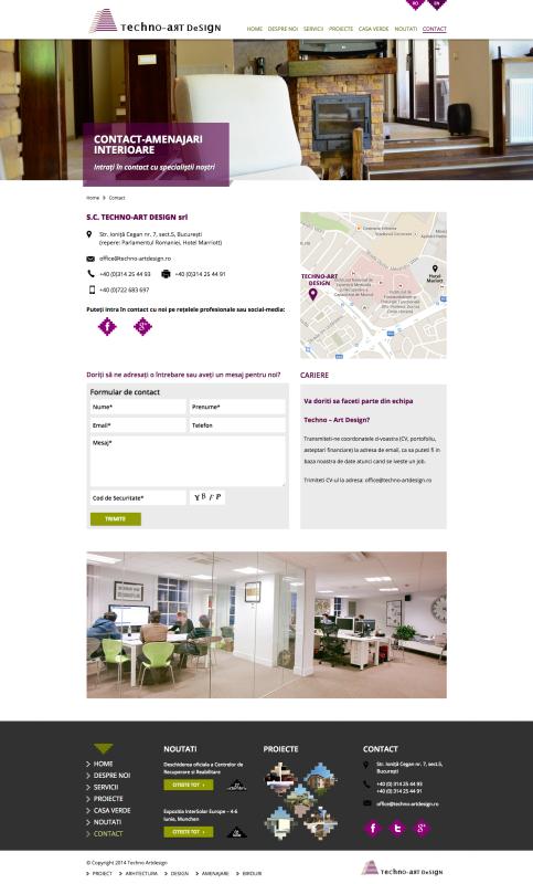 pagina web, contact, web design