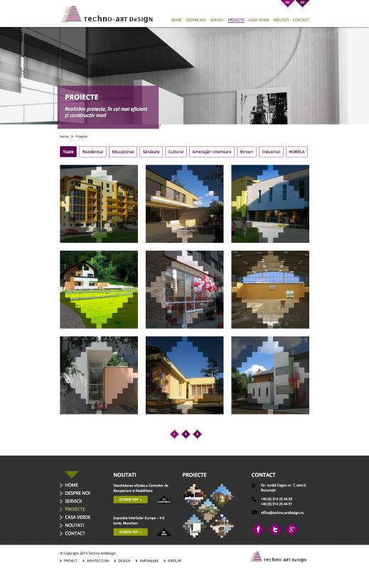 pagina web listare proiecte, web design