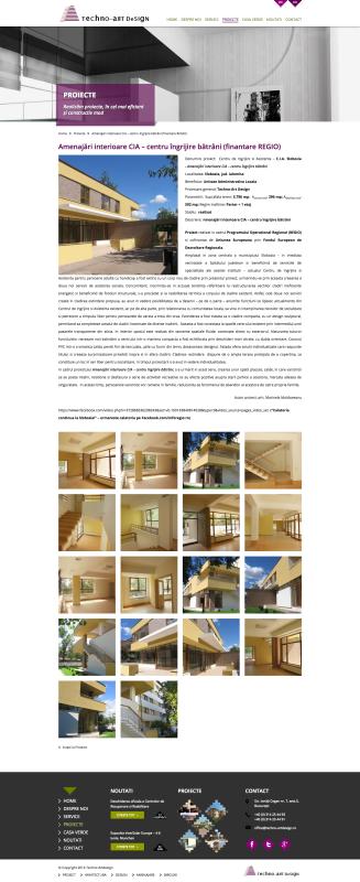 pagina web prezentare proiect, web design
