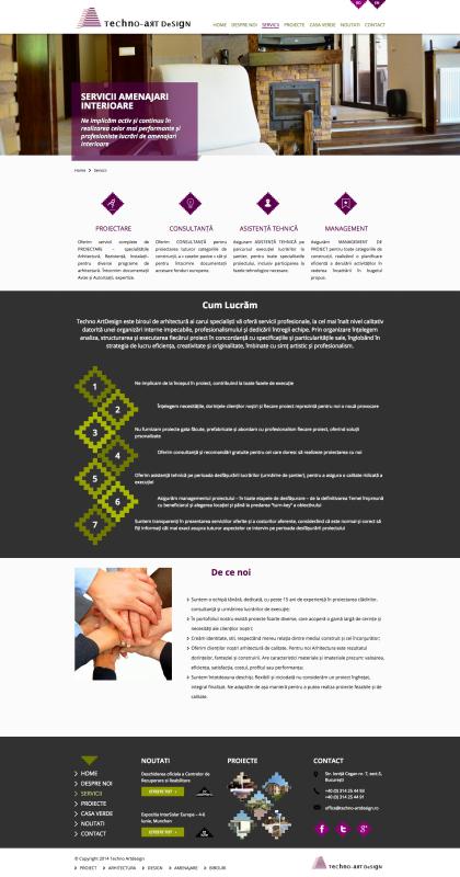 pagina web servicii, web design