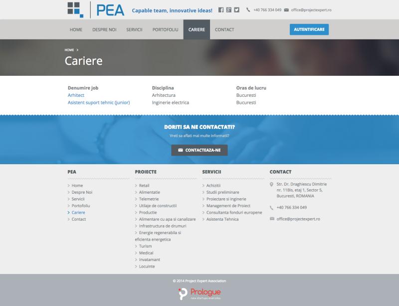 web design - pagina web cariere
