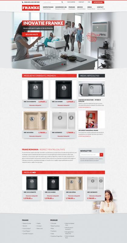 homepage 2 franke - realizare magazin online, realizare shop online