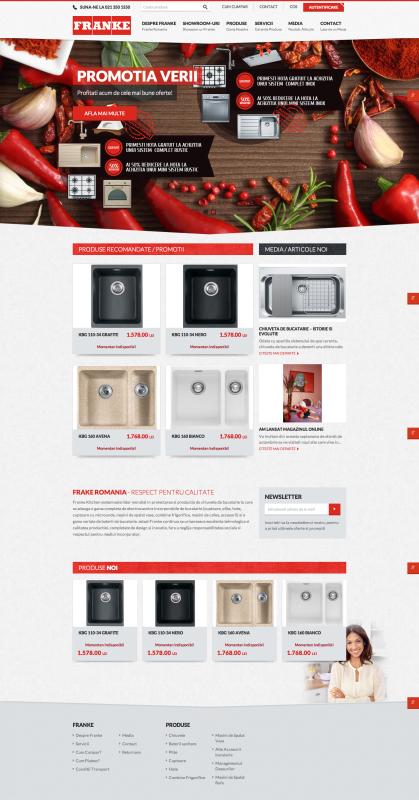 homepage franke- realizare magazin online, realizare shop online