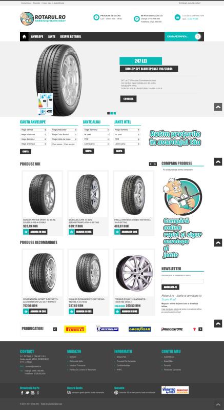 homepage rotarul, magazin online, web design