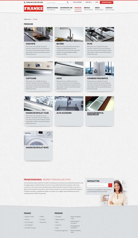 listare categorii produs franke -realizare magazin online, realizare shop online