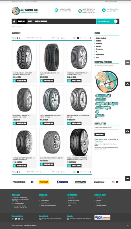 web design, magazin online, listare produse