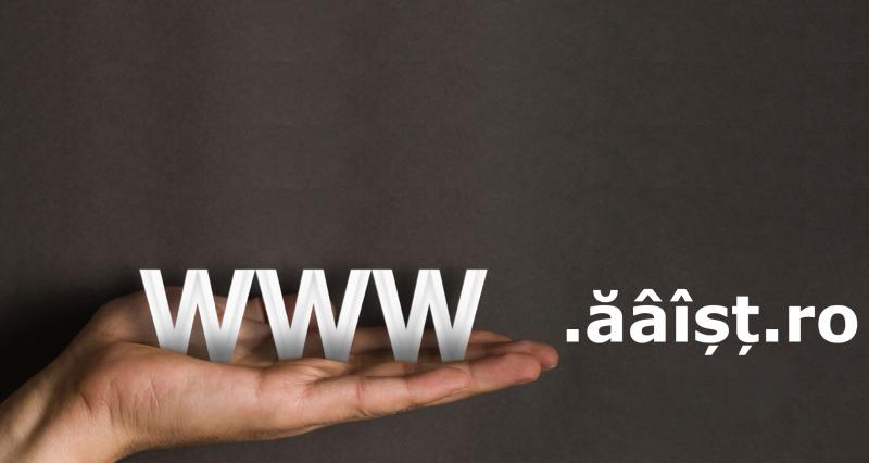 Diacriticele isi fac loc in numele de domenii web .ro