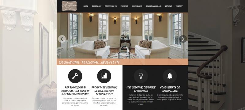 artisan-website-printscreen