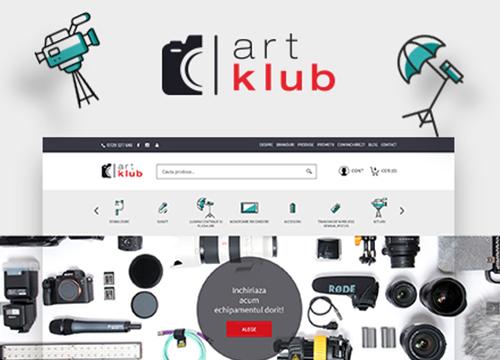 Realizare magazin online Artklub