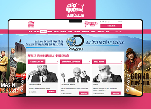 Web design, rebranding si aplicatie mobile Radio Guerrilla