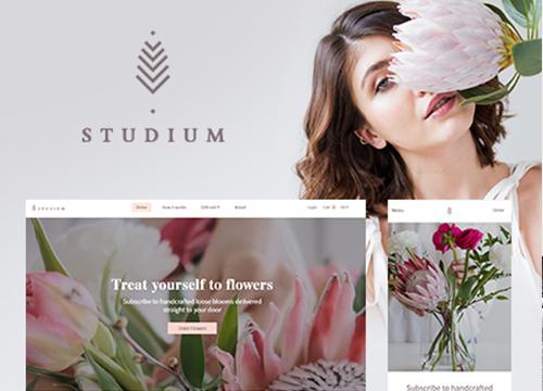 Realizare web design florarie online – Studium Flowers
