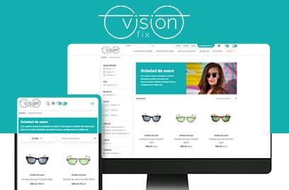 Web design personalizat pentru VisionFix.ro-locul in care vezi mai bine